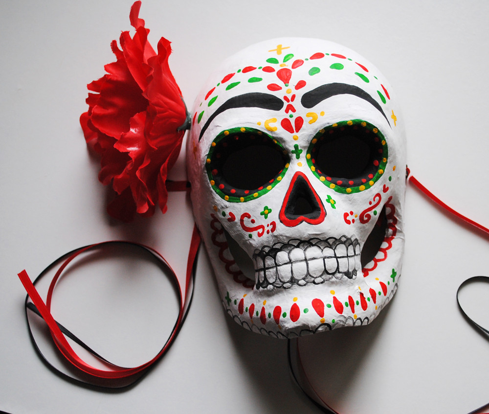 Flamenco Day of the Dead Sugar Skull Mask | It is that