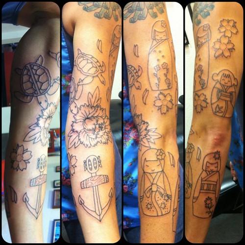 Random Family Memorial Sleeve Tattoo Tattoos Fun Flickr