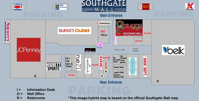 Southgate Mall Map Southgate Mall directory and history, Elizabeth City, NC | Flickr Southgate Mall Map