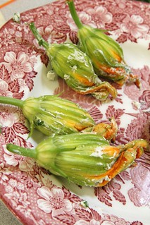 Stuffed squash blossoms | by bonappetitfoodie
