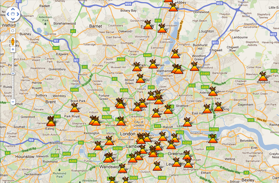 Areas affected by the london riots google maps london ri flickr sciox Gallery