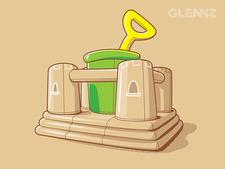 Bouncy Sand Castle | by Glennz Tees