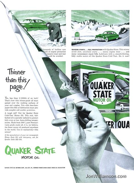 Quaker state 19511105 life flickr photo sharing for Quaker state motor oil history