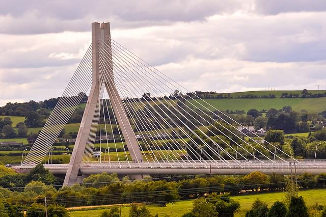 suspension bridge drogheda  co louth  ireland