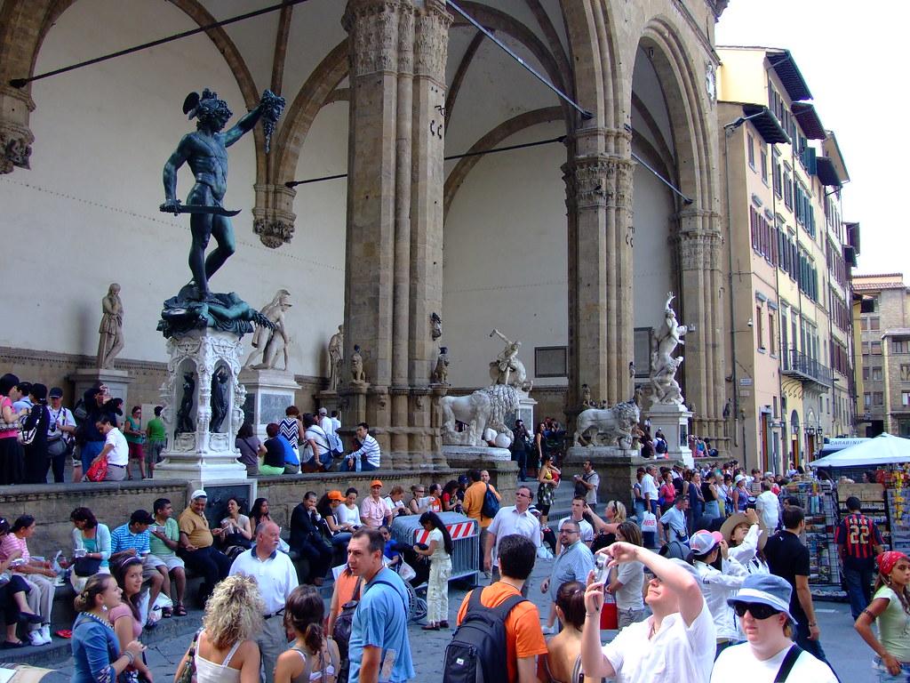 Florence tourists