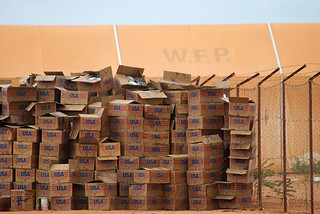 USAID boxes of food | by ONE.org