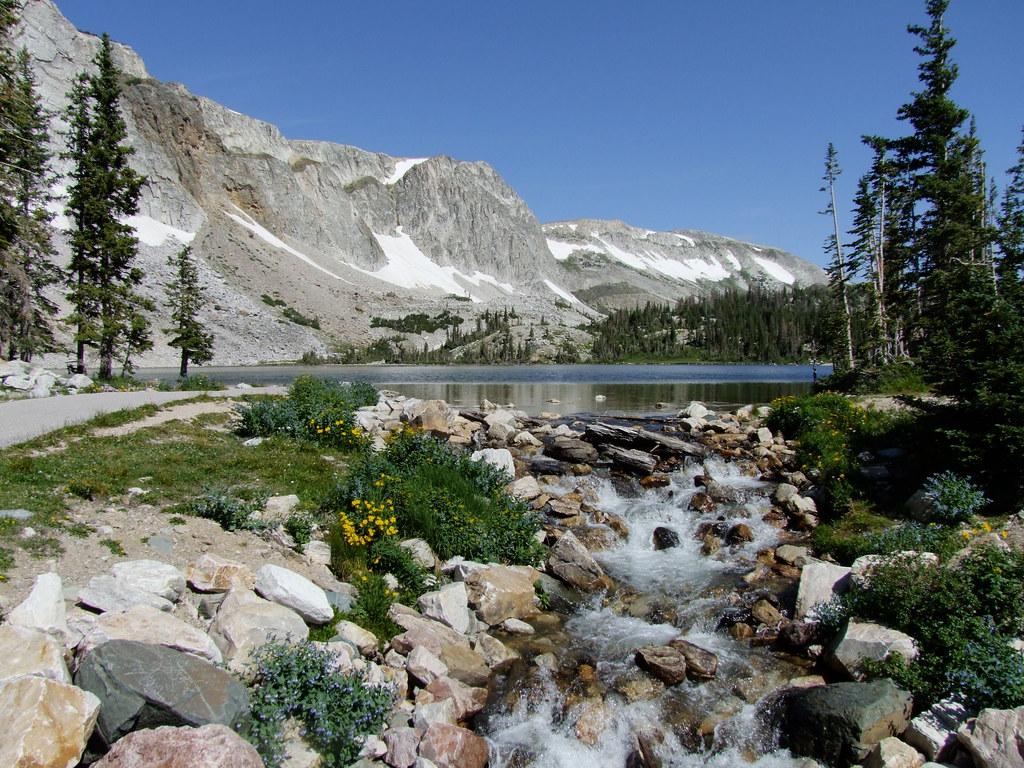 Alpine Scenes Snowy Mountain Range Wyoming | 10800feet ...