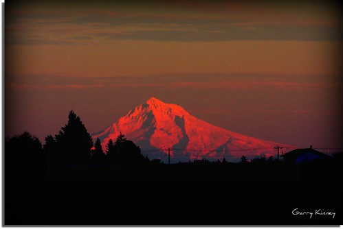 Mt. Hood at Sunset HDR | by Garry's lens....