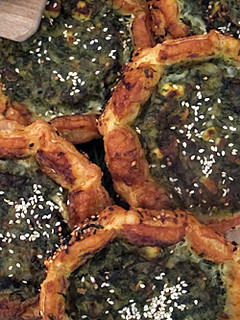 Nopi Swiss chard-filled pastries | by David Lebovitz