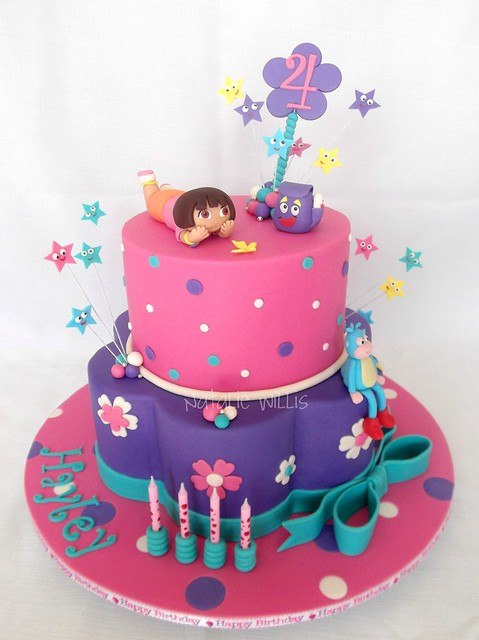 Pin Dora Birthday Cake For Party Cakes Ideas Pictures Cake