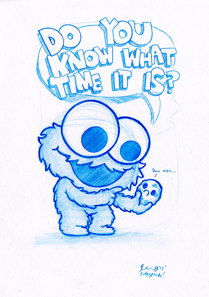 Blue Doodle #6: Cookie Monster! | ..i'm pretty sure the ...