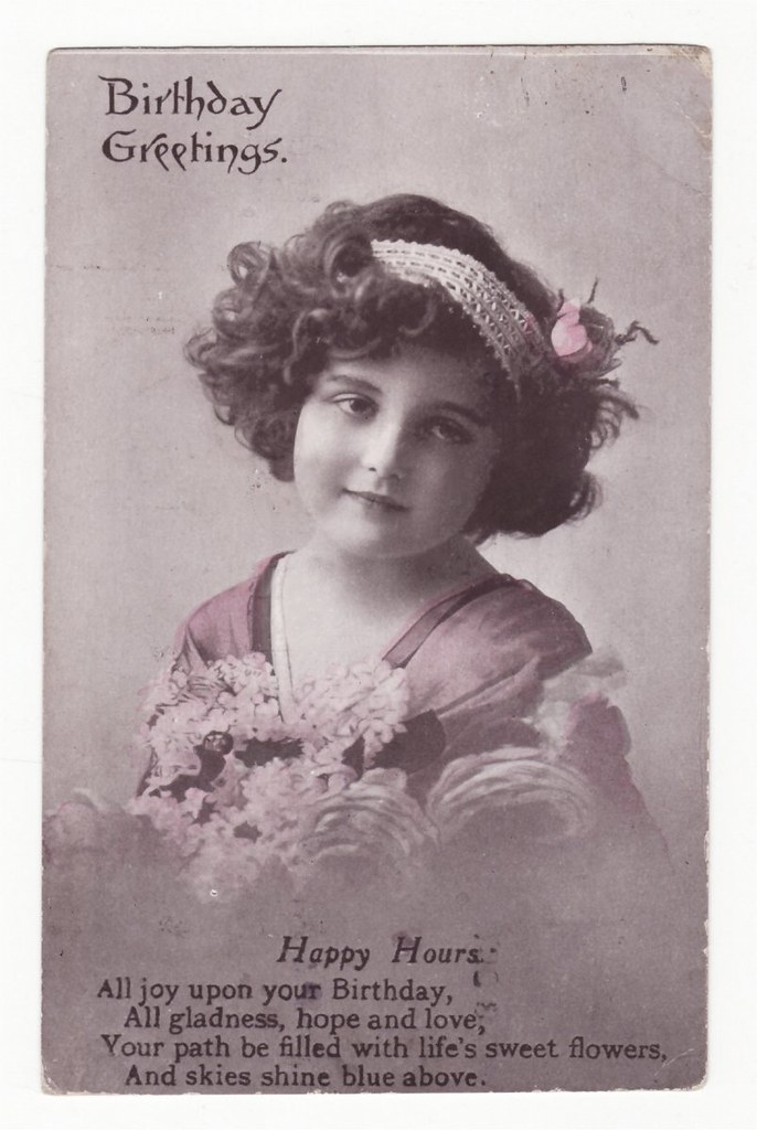 Birthday Greetings Vintage Postcard | Carol Anne | Flickr