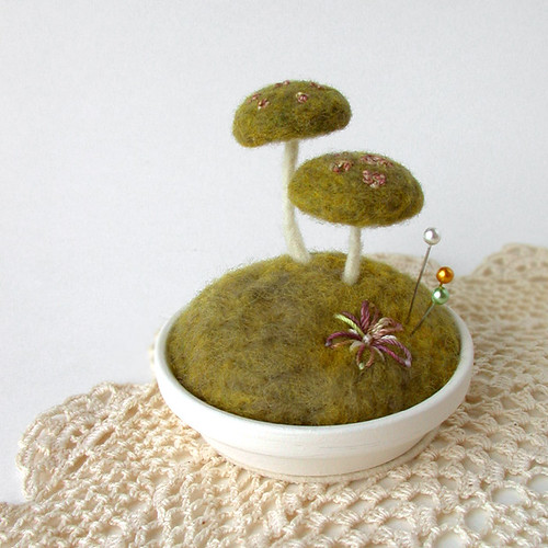 Mossy Floral Mushrooms | by Janine - Foxtail Creek Studio