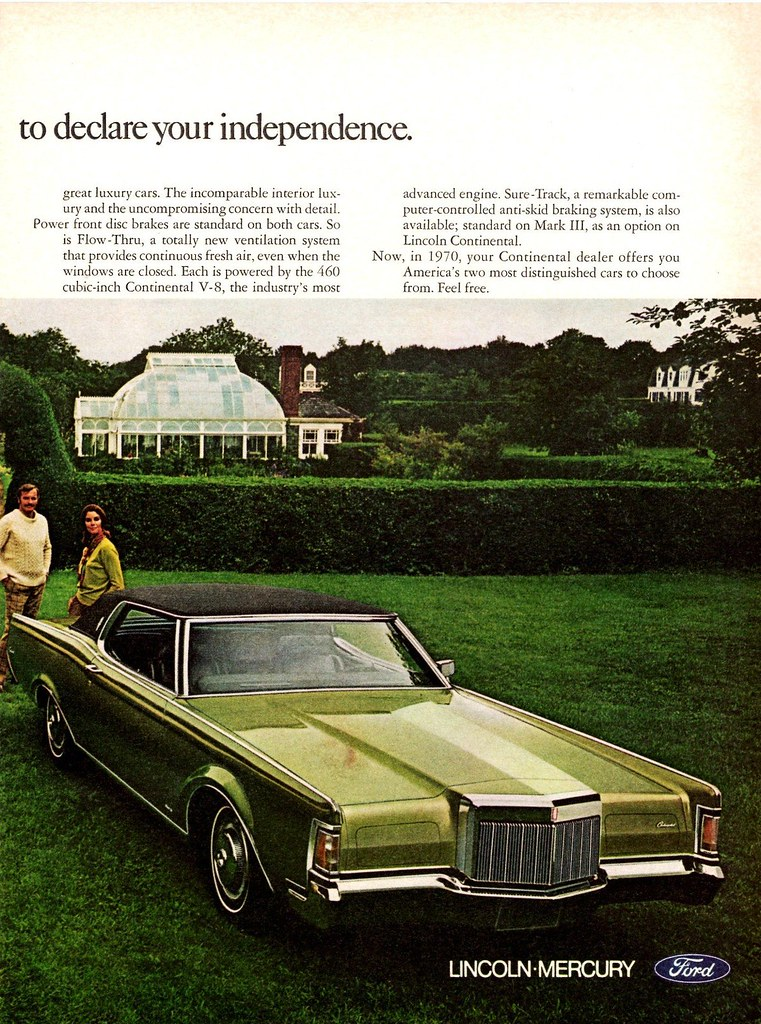 1970 Lincoln Continental Amp Continental Mark Iii Ad Pg 2 Flickr