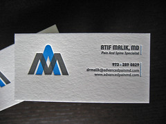 Doctors letterpress business card client atif malik md flickr doctors letterpress business card by dolcepress colourmoves