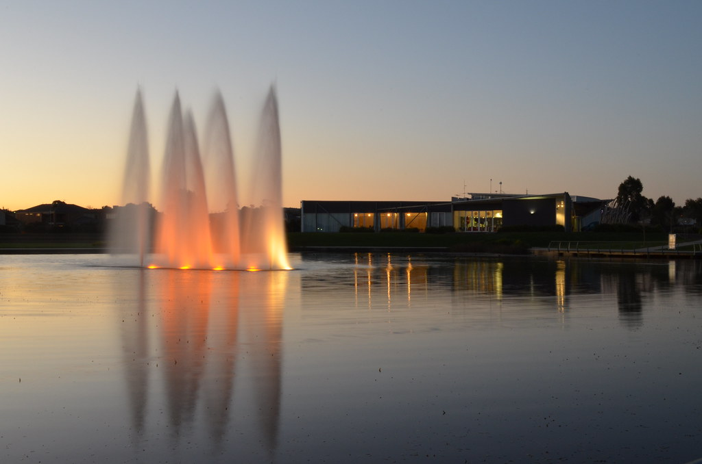 Fountains at Lakeside, Pakenham.