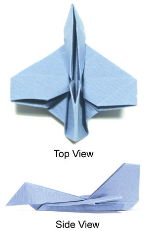 how to make a simple origami airplane fighter jet plane by hyoahn