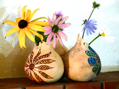 Broken Tops Make Gourd Vases Easy Way To Rescue Gourds W Flickr