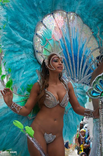 Half Naked Carnival Girl - Notting Hill Carnival - Notting -1429