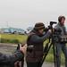 Kelly Matheson, Christi Cooper-Kuhn and Jim Murphy filming with Nelson Kanuk in Kipnuk, Alaska