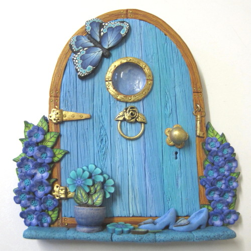 Bluebell fairy door sold patsparaphernalia flickr for Idea behind fairy doors