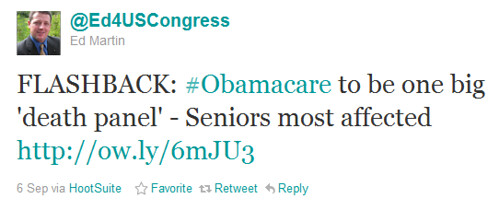 Twitter - @Ed4USCongress- FLASHBACK- #Obamacare to b ... | by FiredUpMissouri