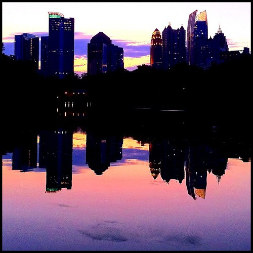 A peaceful and free midtown Atlanta skyline sunset as seen ...