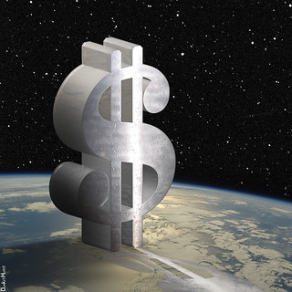 Dollar Sign in Space - Illustration | by DonkeyHotey
