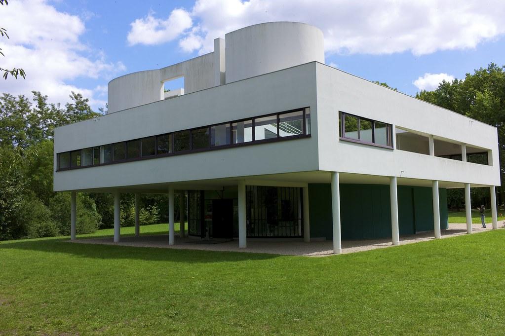 villa savoye villa savoye le corbusier pierre. Black Bedroom Furniture Sets. Home Design Ideas