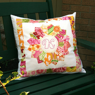 dresden pillow front | by jenny makes stuff