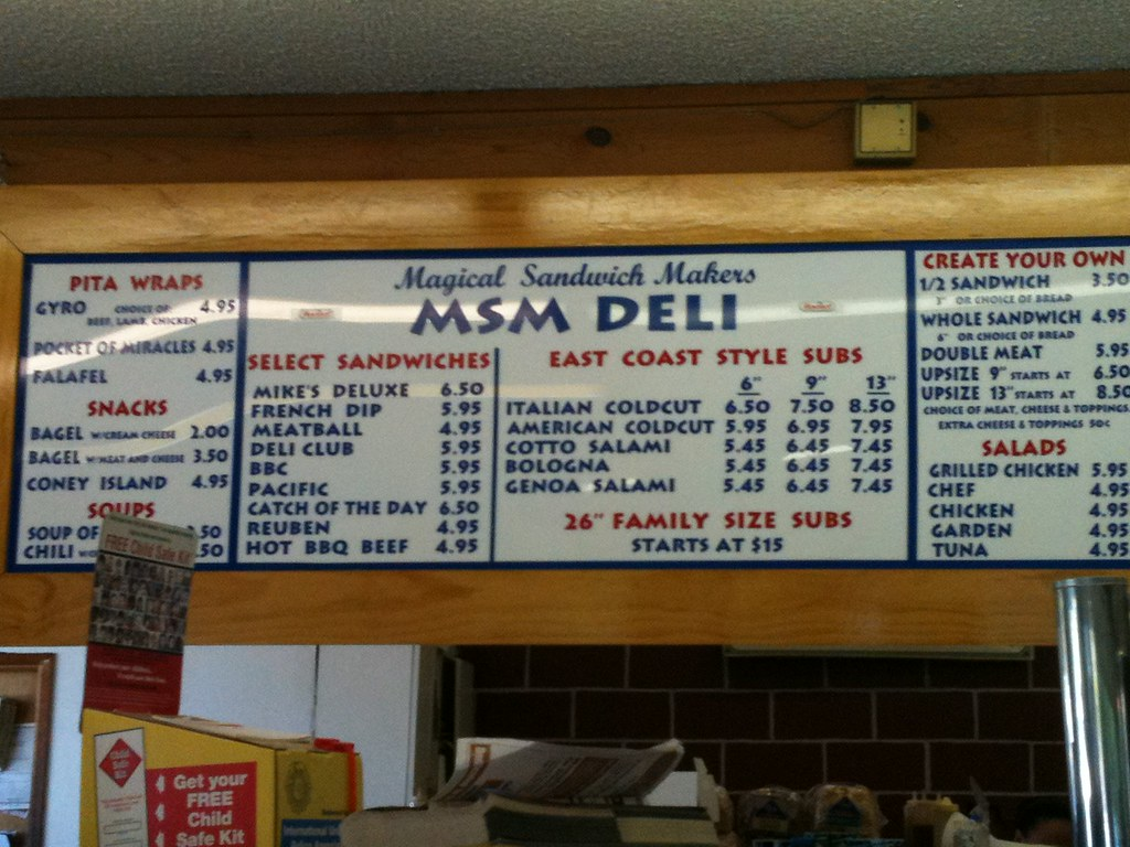 Menu for MSM Deli Tacoma | The Lamb Family | Flickr