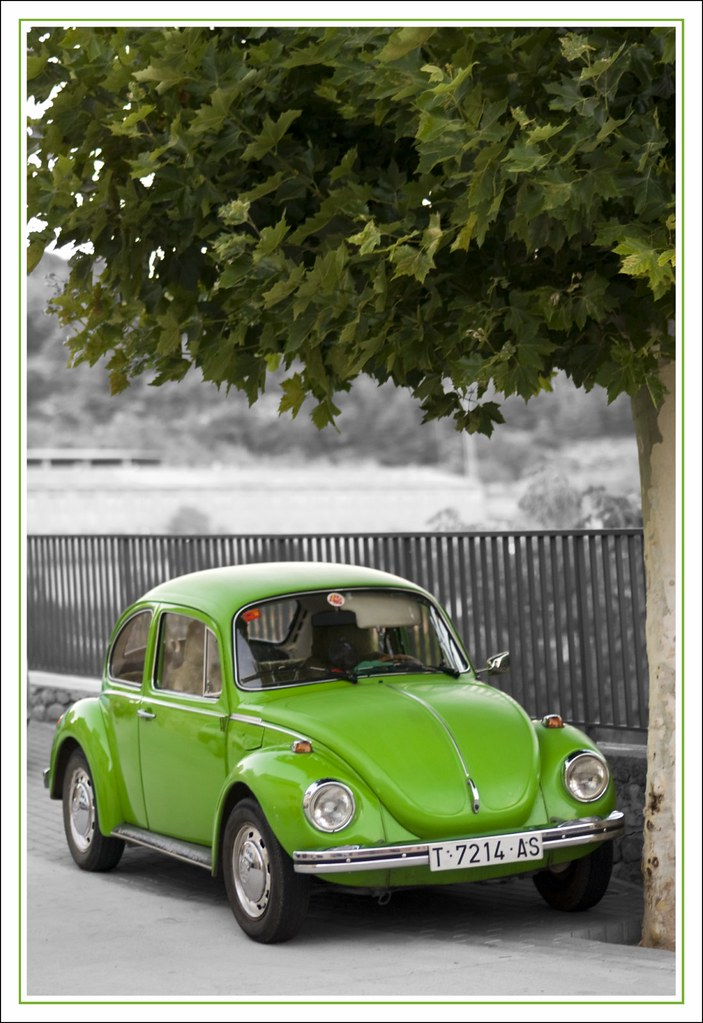 vw escarabajo verde green vw beetle raul mendez flickr