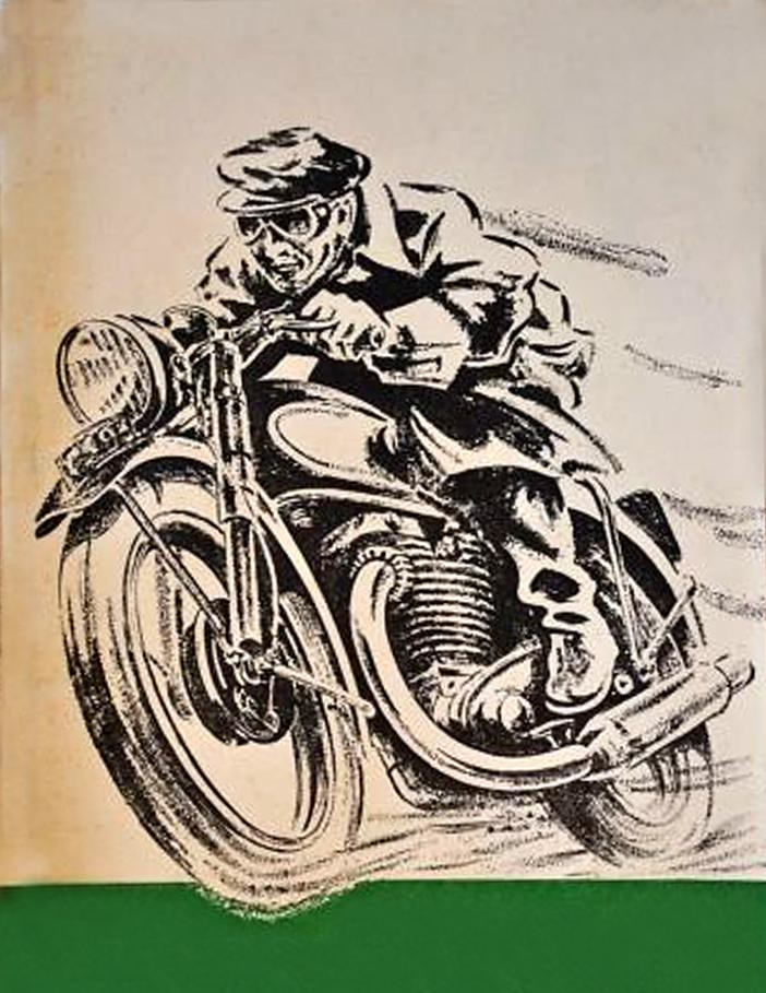 Graphic motorcycle