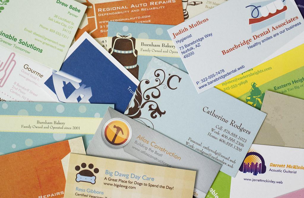 Vistaprint Business Card Collage | See more at www.vistaprin… | Flickr