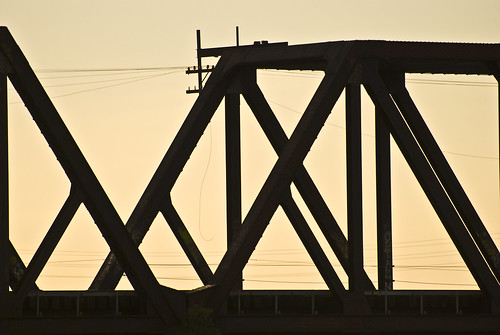 Bridge Structure At Sunset | by The Webhamster