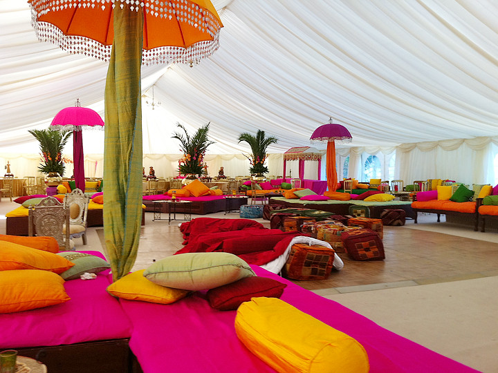 Indian Wedding Marquee Bright And Colourful With Rajastanh Flickr