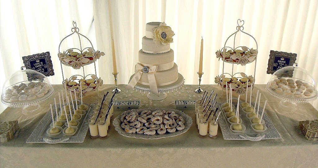 Ivory Wedding Dessert Table Loved Doing This Venue