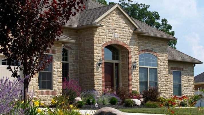 Alexandria legacy with stone brick wayne homes flickr for American house exterior design