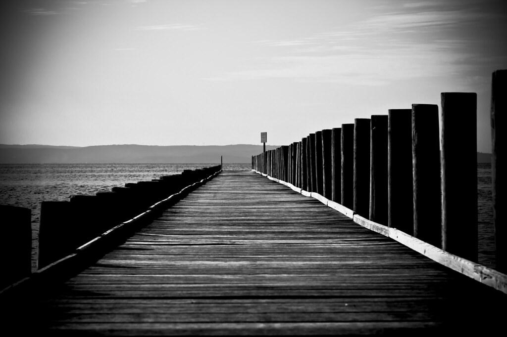 Pontile in bianco e nero 1 anda874 flickr for Foto hd bianco e nero