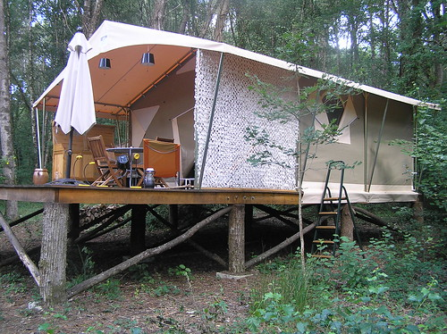 Little house in the big woods jenni lloyd flickr for Permanent tent cabins