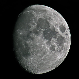 Waxing gibbous Moon 9 August 2011 | by Julian Cooper