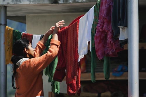 Hanging Damp Clothes Vashisht India Lukexmartin Flickr