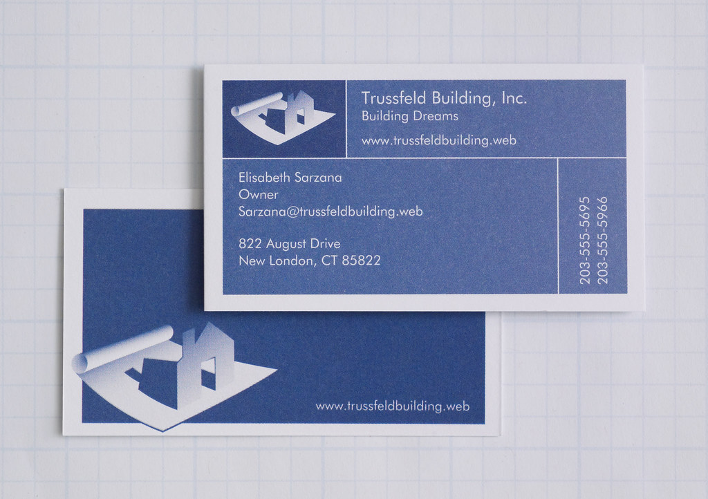 Vistaprint Business Card Front and Back