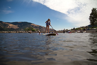 paddle-boarding on the Columbia River | by Mr. Biggs