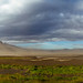 Windy sand storm in Iceland