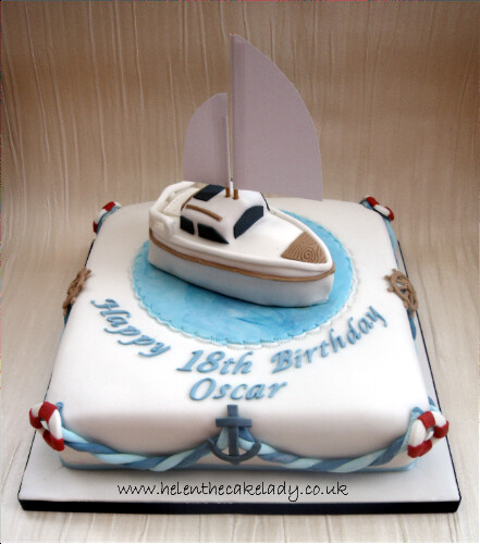 Cake Images Boat : Sailing Boat 18th Birthday cake It is lovely to create a ...