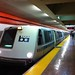 Bart train at Stockton