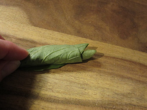 rolled up basil leaves | by Madison Bistro