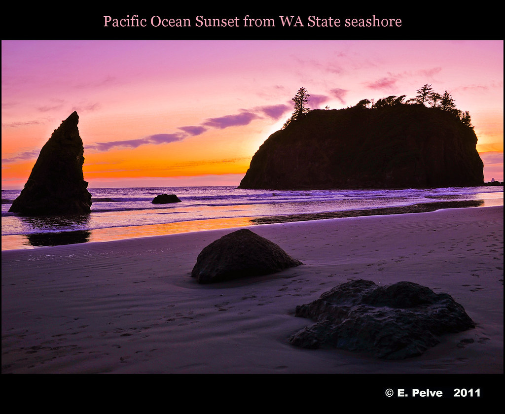 Pacific ocean sunset from wa state seashore click here to flickr for Build on your lot washington state