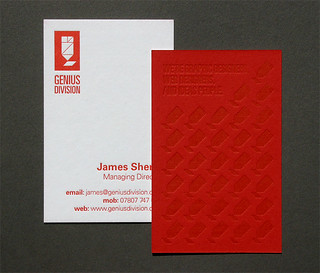 Genius Division Letterpress Business Cards | by blush°°